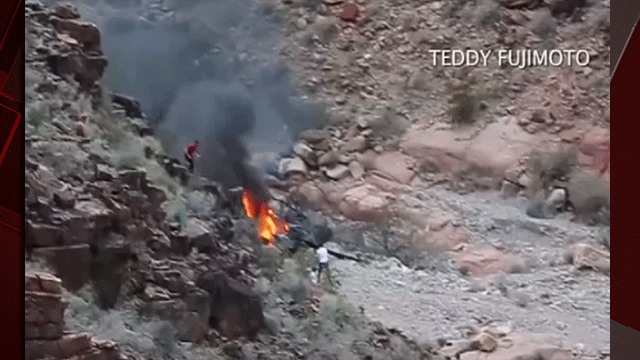 A fifth person has died after a helicopter crash in the Grand Canyon. (Source: Teddy Fujimoto)