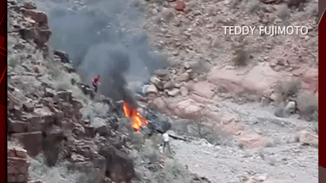 Five people died after a tour helicopter crashed at the Grand Canyon. (Source: Teddy Fujimoto)