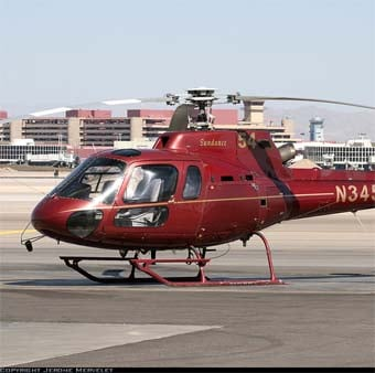 A helicopter very similar to the one that crashed.