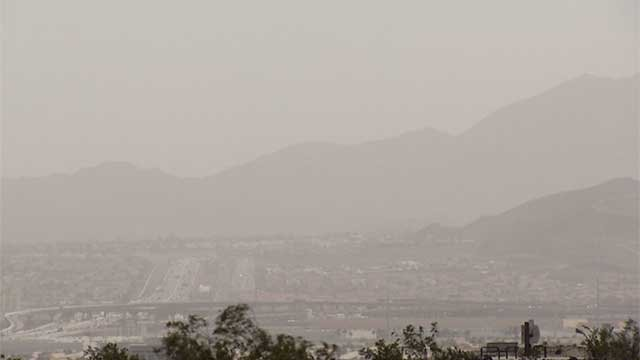 Dust fills the sky in the Las Vegas Valley in this undated photo (FOX5).
