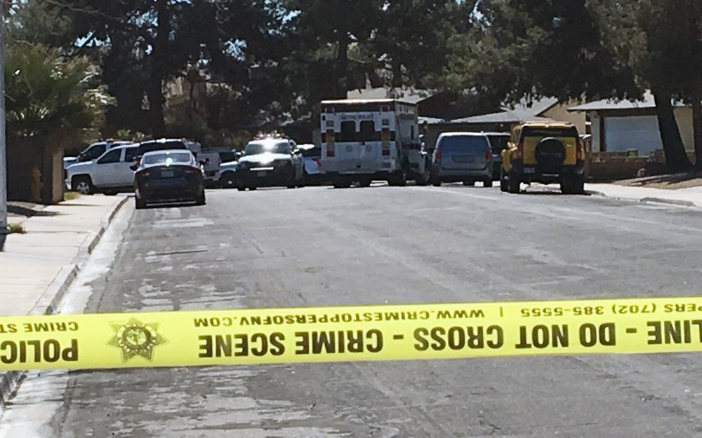 Two people were killed at Bridle Court and Lasso Circle in southeast Las Vegas. March 6, 2018 (Photo: Jason Westerhaus/ FOX5)