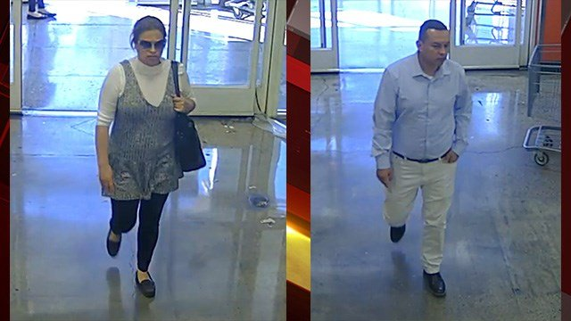 Police are looking for two suspects in a lottery ticket scam. (LVMPD)