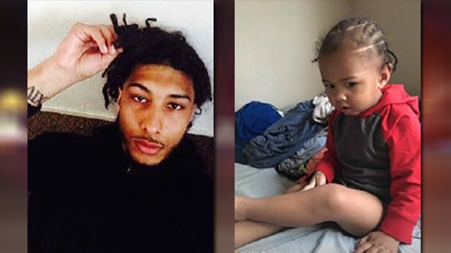 Amir Abdul-Rahim, left, abducted 2-year-old Kuwait Abdul-Rahim, right, on March 6, 2018 according to LVMPD police (LVMPD / FOX5).