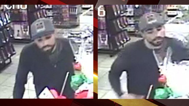 Police are looking for a man suspected of robbing a store west of the Las Vegas Strip last month.(LVMPD)
