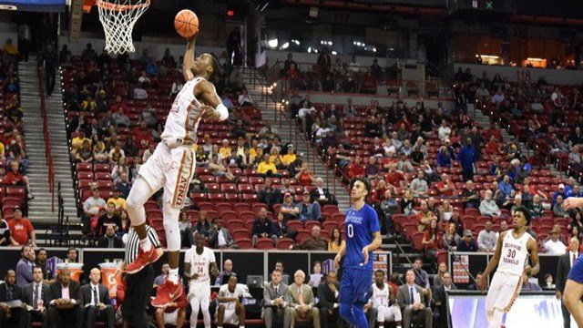 The Runnin' Rebels advanced in the Mountain West Conference tournament with a win over Air Force on March 7, 2018. (Photo: NCAA)