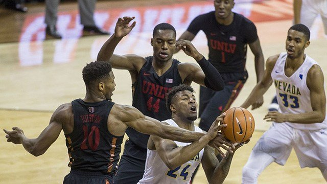 The Runnin' Rebels ended their season with a loss to UNR in the Mountain West tournament. (Photo: AP)
