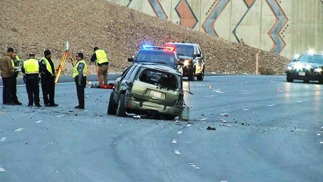Nevada Highway Patrol investigated a deadly crash on March 7, 2018. (Luis Marquez/FOX5)