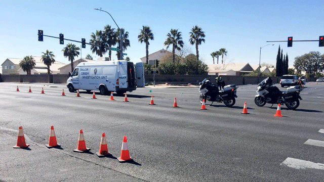A woman was killed in a collision in North Las Vegas on March 9, 2018.