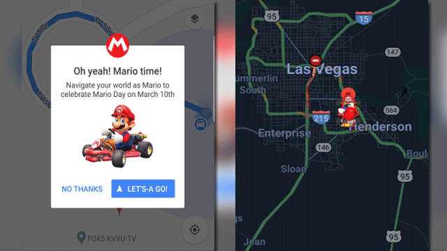 Mario can navigate you through Google Maps for a limited time. (Source: Google Maps)