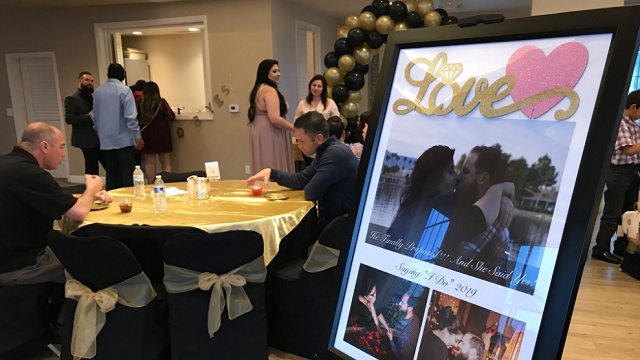 The couple celebrated their engagement on Saturday. (Tiana Bohner/FOX5)