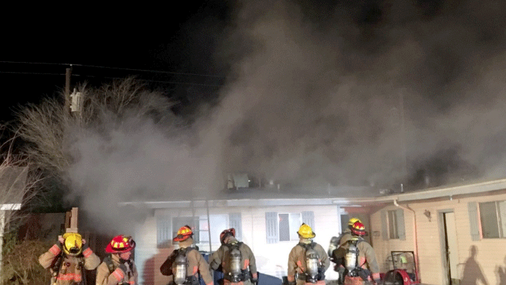 Fire investigators believe an early morning blaze started in a chicken coop. (Source: LVFR)