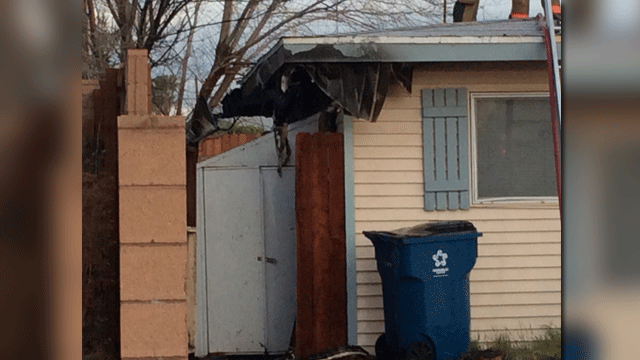 The fire in the chicken coop spread to the house, according to investigators. (Source: LVFR)