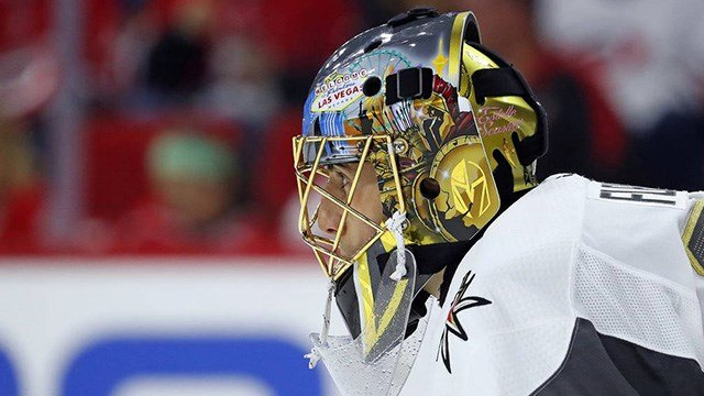 Marc-Andre Fleury won his 400th game Monday. (Photo: Karl B DeBlaker/AP)