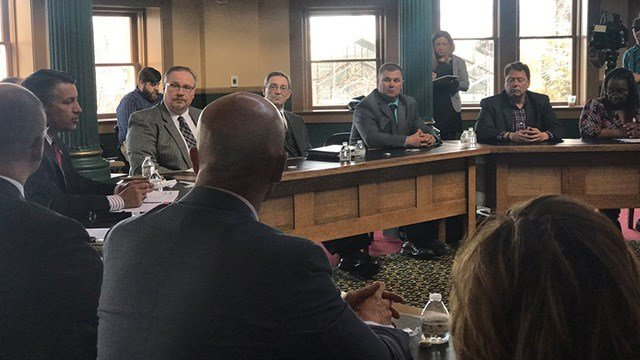 Gov.Brian Sandoval (R) met withNevada's school superintendents Monday to talk about safety. (Photo courtesy of the Governor's office)