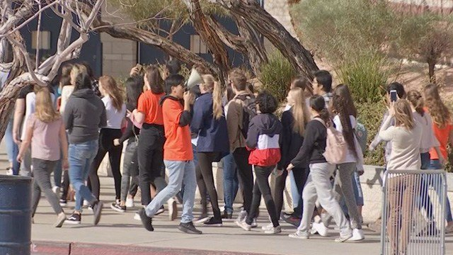 Thousands of students walked out of class around the country Wednesday to demand change. (Dylan Kendrick / FOX5)