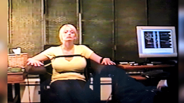 Stormy Daniels is shown during a polygraph test in Las Vegas. (Source: CNN)