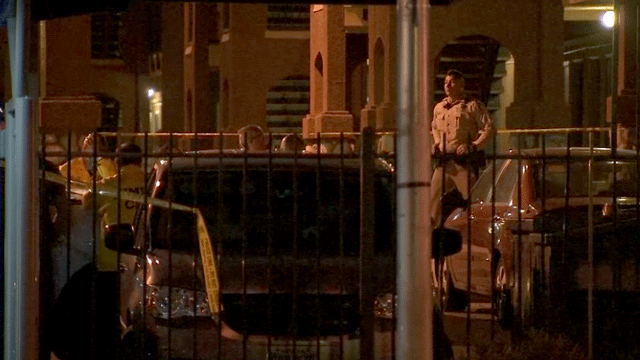 Police investigate a deadly shooting on March 20, 2018. (Luis Marquez/FOX5)