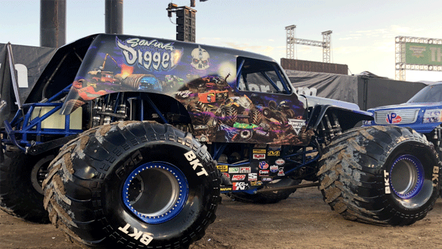 The Monster Truck Jam returns to Las Vegas this weekend. (Mike Doria/FOX5)