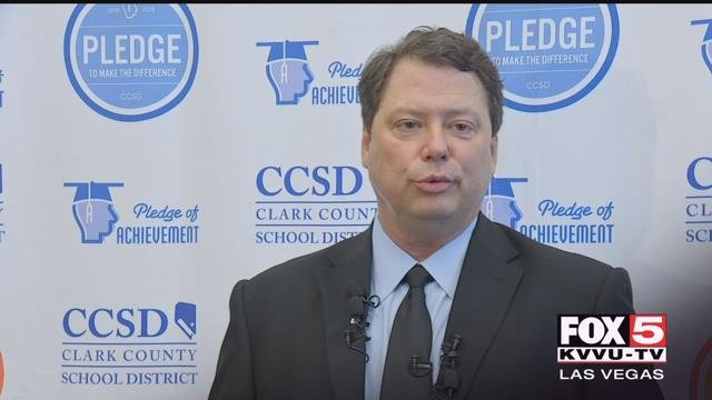 The Clark County Schools' superintendent gave his final 'State of Schools' address Wednesday. (Dylan Kendrick / FOX5)