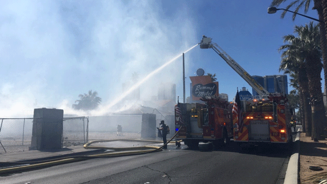 A fire destroyed two-thirds of the Rummel Motel on March 23, 2018. (Source: LVFR)