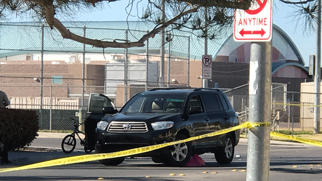 A juvenile died after being struck by a vehicle in south Las Vegas on March 23, 2018. (Gai Phanalasy/FOX5)