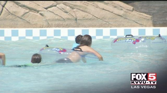 Swimmers float in a pool at Cowabunga Bay (FOX5).
