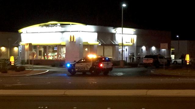 Las Vegas Metro police investigate a deadly shooting near Valley View and Blue Diamond. (Luis Marquez/FOX5)