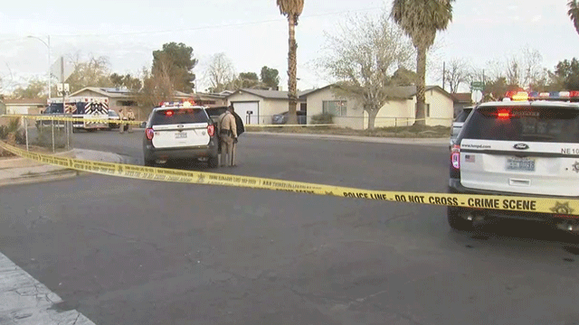 Police said they are investigating a domestic-related shooting on March 26, 2018. (Luis Marquez/FOX5)