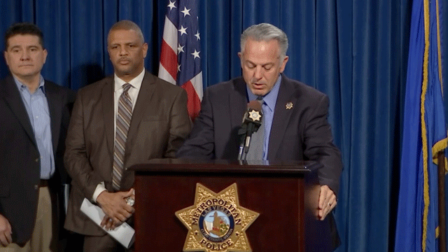 Sheriff Joseph Lombardo is shown at a press conference regarding the MS-13 gang on March 26, 2018. (Dylan Kendrick/FOX5)