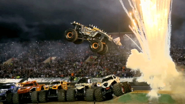 A monster truck is shown during Monster Jam. (File)