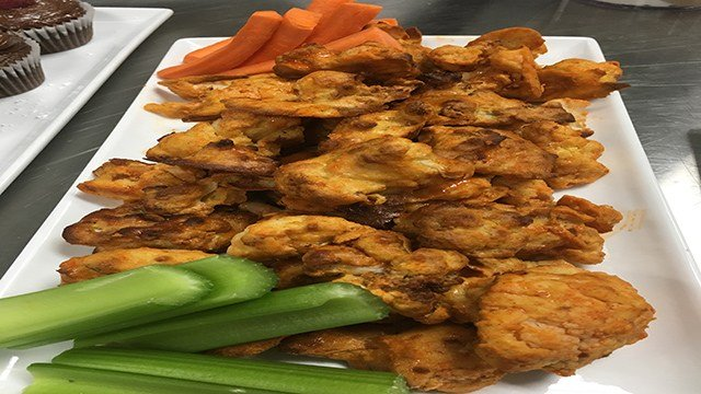 "Cauliflower ""buffalo wings"" were one of many dishes created by chefs (FOX5)."