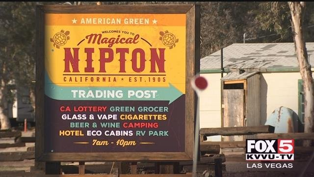 More than a year after purchasing a small town at the edge of the Mojave desert in hopes of developing a one-of-a-kind marijuana mecca, cannabis company American Green has transferred its holdings to a gas and oil company. (Gai Phanalasy / FOX5)