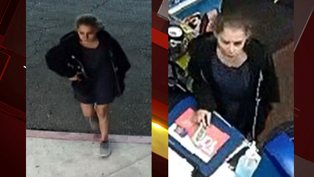Police released images of a person of interest related to a robbery case. (Source: LVMPD)