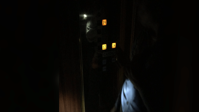 Eric Dolezar captured his elevator ride during the outage on March 29, 2018. (Eric Dolezar/ Twitter)