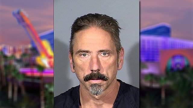 Nicholas Bruels, 52, was arrested for threatening to burn down the Hard Rock Hotel (LVMPD / FOX5).