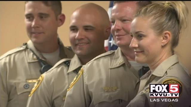 Metro Police honored 116 officers in a ceremony Tuesday. (Gai Phanalasy / FOX5)