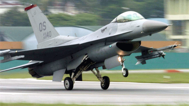A F-16 is shown in an undated image. (U.S. Air Force)