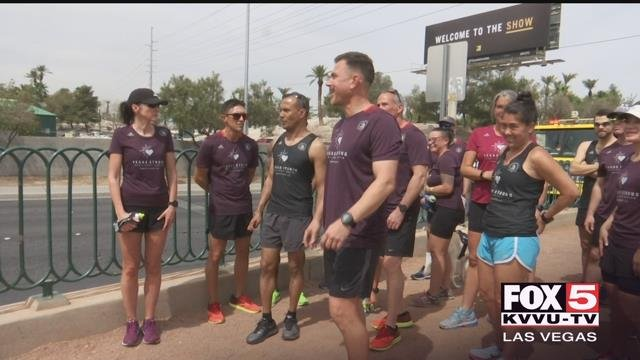 Runners from Las Vegas are heading to the Boston Marathon to honor 1 October victims. (FOX5)