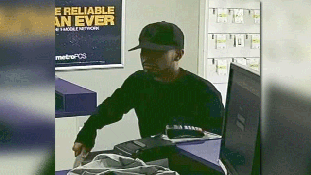 Las Vegas police released a surveillance image of a suspected robber. (Source: LVMPD)