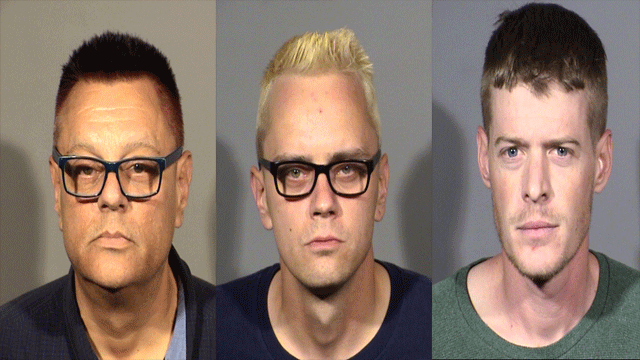 From left to right, John Warren, Steven Warren, and Matthew Amthore. (Source: LVMPD)