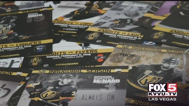 Golden Knights fan giveaways have turned into valuable collectors' items. (FOX5)