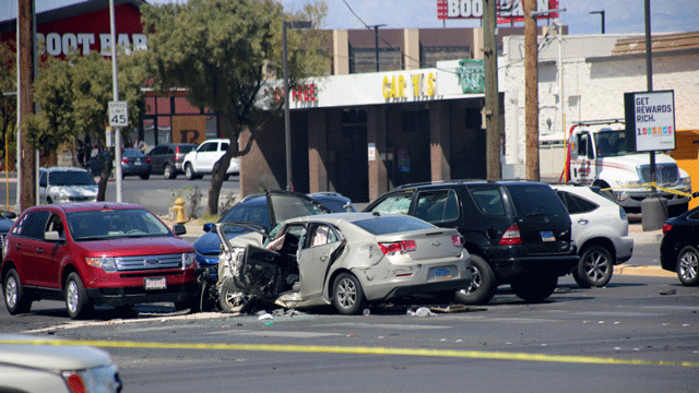 A six-vehicle crash claimed the life of one person and injured three others April 12, 2018 (Raymond Reyna/Report It).