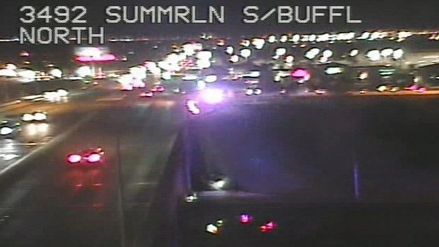 A man died in a rollover crash at Summerlin Parkway and Buffalo Drive, according to the Nevada Highway Patrol.