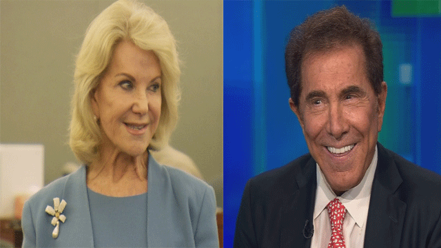 Elaine Wynn (left) and Steve Wynn (Right) are shown in undated images. (File)