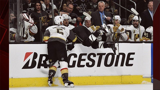 The Golden Knights topped the L.A. Kings 1-0 to advance to the second round of the Stanley Cup Playoffs. (Photo: Vegas Golden Knights)