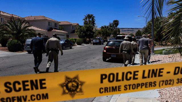 Police investigate a deadly shooting on April 23, 2018. (Gai Phanalasy/FOX5)