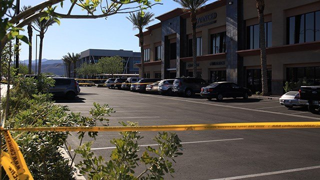 A girl was in critical condition after being struck by a vehicle in a southwest Las Vegas hospital parking lot Monday.  (Gai Phanalasy / FOX5)