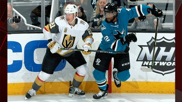 The Vegas Golden Knights announced the team will open the second round of the 2018 Stanley Cup Playoffs versus the San Jose Sharks onThursday at 7:00 p.m. PT.(Photo: San Jose Sharks)