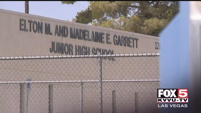 A 14-year-old boy was arrested after reportedly making a threat towards a Boulder City junior high school. (Roger Bryner / FOX5)