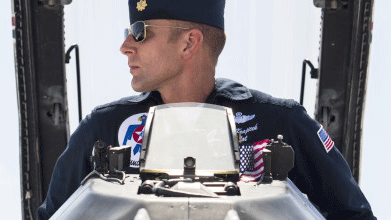 "Maj. Nick ""Khan"" Krajicek will return to the Thunderbirds. (Source: U.S. Air Force)"